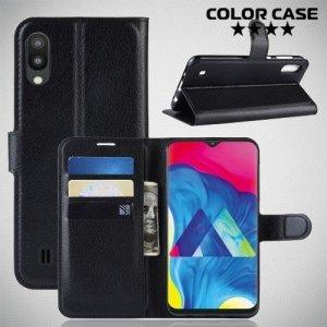 Чехол книжка для Samsung Galaxy M10 - Черный