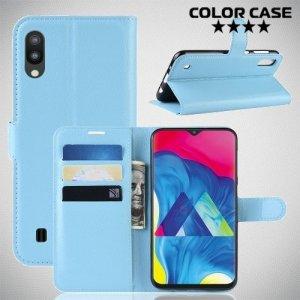 Чехол книжка для Samsung Galaxy M10 - Голубой