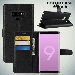 Чехол книжка для Samsung Galaxy Note 9 - Черный