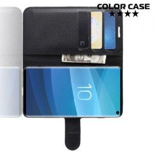 Чехол книжка для Samsung Galaxy S10 - Черный