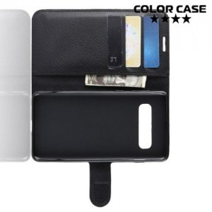 Чехол книжка для Samsung Galaxy S10 Plus - Черный