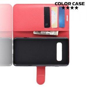 Чехол книжка для Samsung Galaxy S10 Plus - Красный