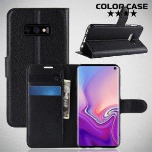 Чехол книжка для Samsung Galaxy S10e - Черный