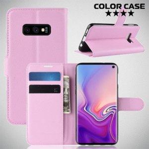Чехол книжка для Samsung Galaxy S10e - Розовый
