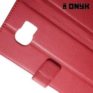 Чехол книжка для Samsung Galaxy S7 - Красный
