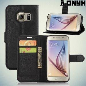 Чехол книжка для Samsung Galaxy S7 - Черный