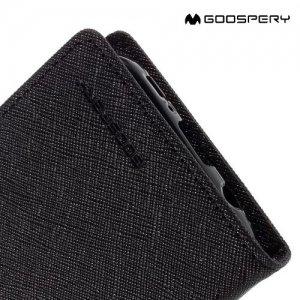 Чехол книжка для Samsung Galaxy S7 Mercury Goospery - Черный