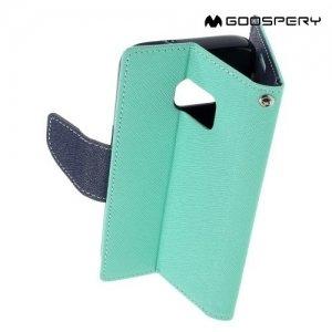Чехол книжка для Samsung Galaxy S7 Mercury Goospery - Голубой