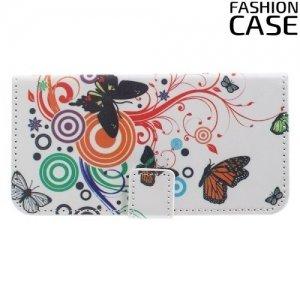 Чехол книжка для Samsung Galaxy S7 - с рисунком Бабочка