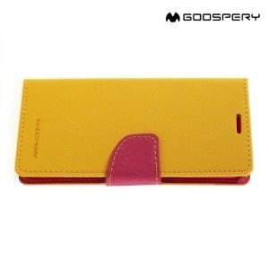 Чехол книжка для Samsung Galaxy S8 Mercury Goospery - Желтый