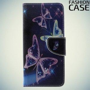Чехол книжка для Samsung Galaxy S8 Plus - с рисунком Бабочка