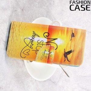 Чехол книжка для Samsung Galaxy S8 Plus - с рисунком Закат