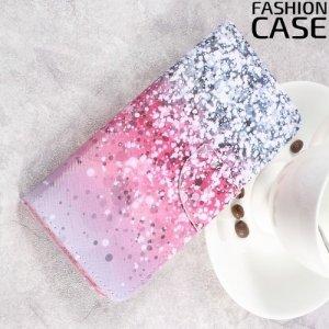 Чехол книжка для Samsung Galaxy S8 Plus - с рисунком Градиент