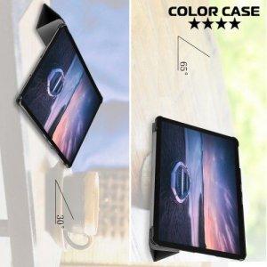 Чехол книжка для Samsung Galaxy Tab A 10.5 SM-T595 SM-T590 - Черный
