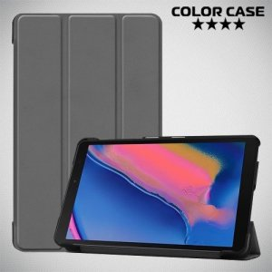 Чехол книжка для Samsung Galaxy Tab A 8.0 (2019) P200 P205 - Серый