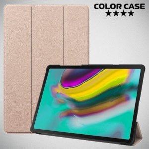 Чехол книжка для Samsung Galaxy Tab S5e SM-T720 - Золотой