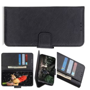 Чехол книжка для Sony Xperia 1 II отделения для карт и подставка Черный