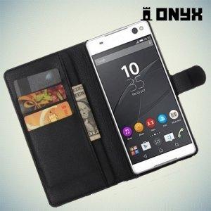 Чехол книжка для Sony Xperia C5 Ultra - Черный