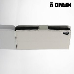Чехол книжка для Sony Xperia E5  - Белый