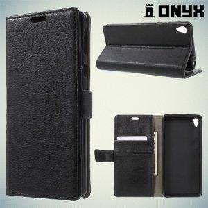 Чехол книжка для Sony Xperia E5 F3311 - Черный