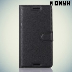 Чехол книжка для Sony Xperia X - Черный