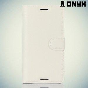 Чехол книжка для Sony Xperia X - Белый