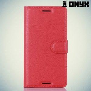 Чехол книжка для Sony Xperia X - Красный