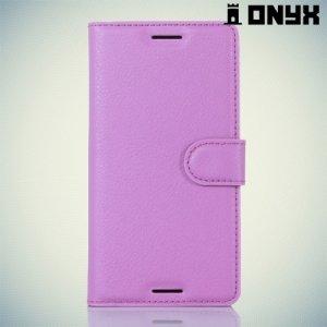 Чехол книжка для Sony Xperia X - Фиолетовый