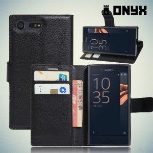 Чехол книжка для Sony Xperia X Compact - Черный