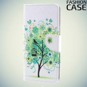 Чехол книжка для Sony Xperia XA1 Ultra - с рисунком Дерево счастья