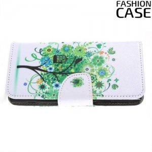 Флип чехол книжка для Sony Xperia XA2 с рисунком дерево счастья