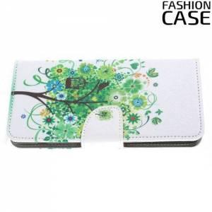 Чехол книжка для Sony Xperia XA2 Ultra - с рисунком Дерево счастья
