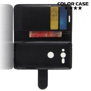 Чехол книжка для Sony Xperia XZ2 Compact - Черный