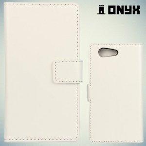 Чехол книжка для Sony Xperia Z3 Compact D5803 - Белый