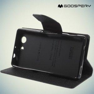 Чехол книжка для Sony Xperia Z3 Compact D5803 Mercury Goospery - Черный
