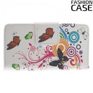Чехол книжка для Sony Xperia Z5 Compact - с рисунком Бабочка