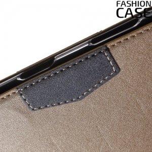 Чехол книжка для Sony Xperia Z5 E6653 с скрытой магнитной застежкой - Золотой