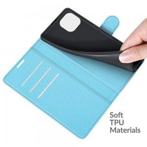 Чехол книжка для Xiaomi Mi 11 Lite отделения для карт и подставка Синий
