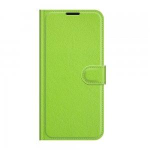 Чехол книжка для Xiaomi Mi 11 Lite отделения для карт и подставка Зеленый