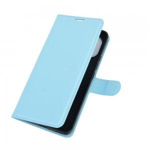 Чехол книжка для Xiaomi Mi 11 отделения для карт и подставка Синий