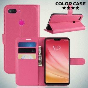 Чехол книжка для Xiaomi Mi 8 Lite - Розовый
