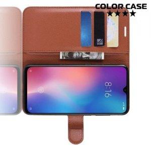 Чехол книжка для Xiaomi Mi 9 SE - Коричневый