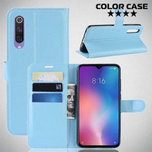 Чехол книжка для Xiaomi Mi 9 SE - Голубой
