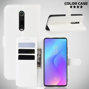 Чехол книжка для Xiaomi Mi 9T - Белый