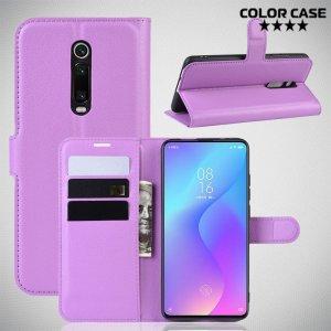 Чехол книжка для Xiaomi Mi 9T - Фиолетовый