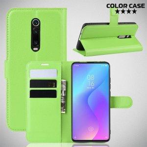 Чехол книжка для Xiaomi Mi 9T - Зеленый
