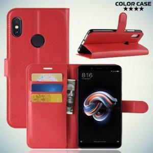 Чехол книжка для Xiaomi Mi A2 / Mi 6X - Красный