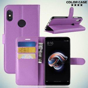 Чехол книжка для Xiaomi Mi A2 / Mi 6X - Фиолетовый