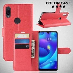 Чехол книжка для Xiaomi Mi Play - Красный