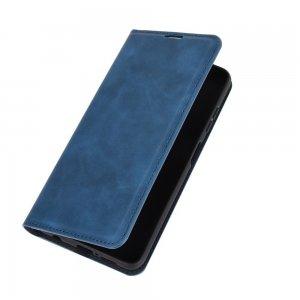 Чехол книжка для Xiaomi Poco X3 NFC с магнитом и отделением для карты - Синий